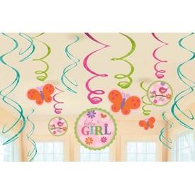 Parti Paketi Baby Girl, Süs Dalgaları 12'li Parti Süsü