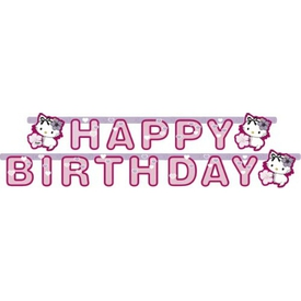 Parti Paketi Charmmy Kitty, Happy Birthday Banner Parti Afişi