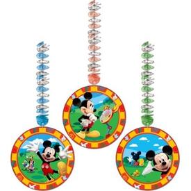 Parti Paketi Mickey Mouse, Asmalı Süsler 3'lü Parti Süsü