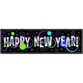 Parti Paketi Happy New Year, Metalik Dev Afiş Parti Afişi