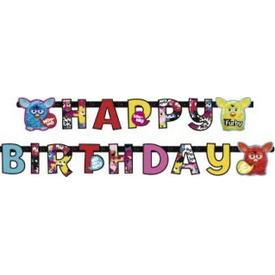 Parti Paketi Furby, Happy Birthday Banner Parti Afişi