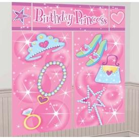 Parti Paketi Süslü Prenses, Doğumgünü Duvar Dekoru Parti Dekoru