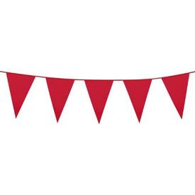 Parti Paketi Kırmızı Büyük Bayrak Dizisi, 10m Parti Süsü