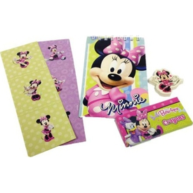 Parti Paketi Minnie Mouse, Kırtasiye Hediyelik Seti Spiralli Defter