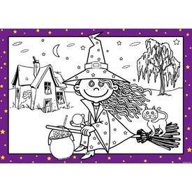 Parti Paketi Tatlı Cadı, Boyama Kağıtları 8'li Parti Hediyesi