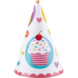 Parti Paketi Sweet Cupcake,  6'lı Parti Şapkası