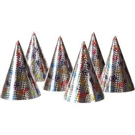 Parti Paketi Holografik Parti Şapkaları, 6'lı Parti Şapkası