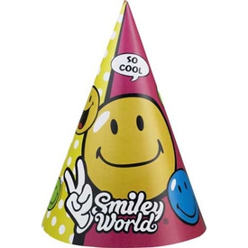 Parti Paketi Emoji Comic,  6'lı Parti Şapkası