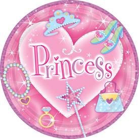 Parti Paketi Süslü Prenses, Prizmatik Büyük Tabak 8'li Parti Tabağı