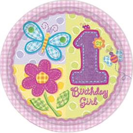 Parti Paketi Ilk Yaş Kız, Açık Büfe Tabağı 8'li Parti Tabağı