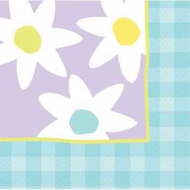 Parti Paketi Pastel Çiçekler, Peçete Parti Peçetesi