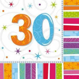 Parti Paketi Işıltılı 30 Yaş, Büyük Peçete Parti Peçetesi