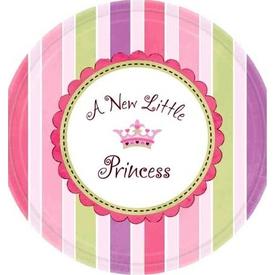 Parti Paketi Minik Prenses, Küçük Tabak 8'li Parti Tabağı