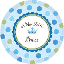 Parti Paketi Minik Prens, Açık Büfe Tabağı 8'li Parti Tabağı