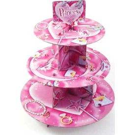 Parti Paketi Prenses Cupcake Standı Parti Tabağı