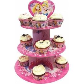 Parti Paketi Disney Prensesler, Cupcake Standı Parti Tabağı