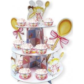 Parti Paketi Küçük Şefler, Cupcake Standı Parti Tabağı