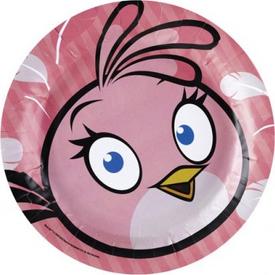 Parti Paketi Angry Birds Pink, Büyük Tabak 8'li Parti Tabağı