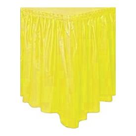 Parti Paketi Güneş Sarısı, Plastik Masa Eteği Parti Masa Örtüsü
