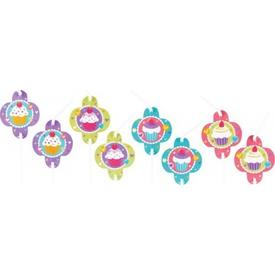 Parti Paketi Sweet Cupcakes, Şekilli Pipet 8'li Parti Pipeti