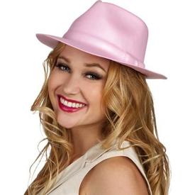 Parti Paketi Pembe Gangster Şapkası Kostüm Şapkası