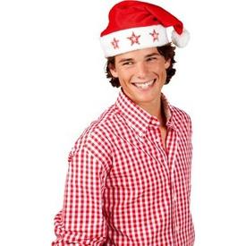 Parti Paketi Noel Baba Şapkası, Yıldız Işıklı Kostüm Şapkası