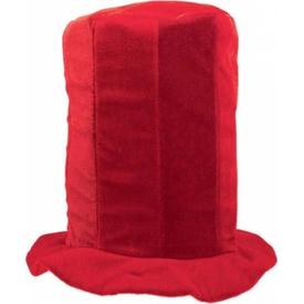 Parti Paketi Uzun Silindir Şapka, Kırmızı Kostüm Şapkası