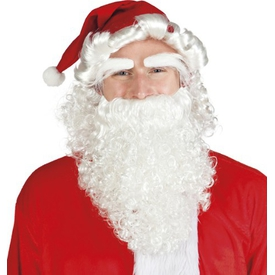 Parti Paketi Noel Baba Şapkası, Saç, Kaş, Sakal Kostüm Şapkası