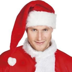 Parti Paketi Noel Baba Şapkası, Delüks Uzun Kostüm Şapkası