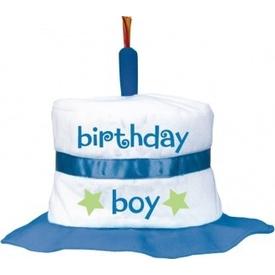 Parti Paketi 1 Yaş Erkek Doğum Günü, Pasta Şapka Kostüm Şapkası