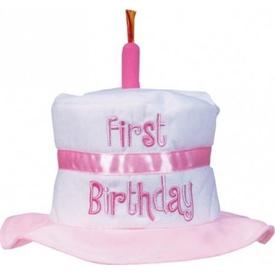 Parti Paketi 1 Yaş Kız Doğum Günü, Pasta Şapka Kostüm Şapkası