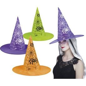 Parti Paketi Cadı Şapkası, Örümcek Ağı Desenli Kostüm Şapkası