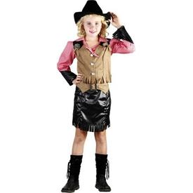Parti Paketi Amerikan Kız Kovboy Kostümü, Süperlüks 7-9 Y Kız Çocuk Kostümleri