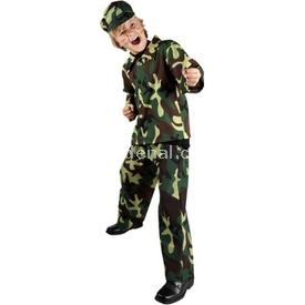 Parti Paketi Komando Asker Kostümü, Lüks 7-9 Y Erkek Çocuk Kostümleri