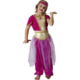 Parti Paketi Arap Prensesi Kostümü, Lüks 4-6 Y Kız Çocuk Kostümleri