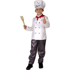 Parti Paketi Şef Aşçı Kostümü, Süperlüks 7-9 Y Genel Çocuk Kostümleri