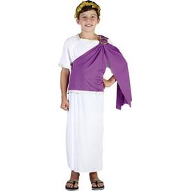 Parti Paketi Roma Imparatoru Sezar Kostümü, Süperlüks 7-9 Erkek Çocuk Kostümleri