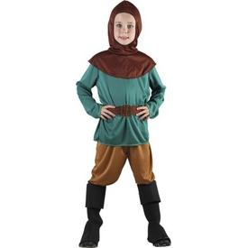 Parti Paketi Robin Hood Orman Savaşçısı Kostümü, 7-9 Y Erkek Çocuk Kostümleri