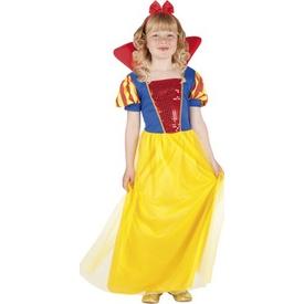 Parti Paketi Pamuk Prenses Kostümü, Lüks 4-6 Y Kız Çocuk Kostümleri
