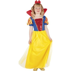 Parti Paketi Pamuk Prenses Kostümü, Lüks 7-9 Y Kız Çocuk Kostümleri