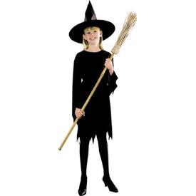Parti Paketi Cadı Kostümü, Siyah 10-12 Yaş Kız Çocuk Kostümleri