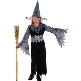 Parti Paketi Cadı Kostümü, Gri 7-9 Yaş Kız Çocuk Kostümleri