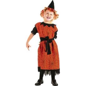 Parti Paketi Cadı Kostümü, Turuncu 3-4 Yaş Kız Çocuk Kostümleri