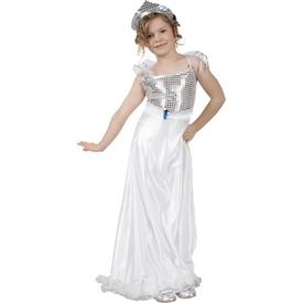 Parti Paketi Gümüş Prenses Kostümü, 7-9 Y Kız Çocuk Kostümleri