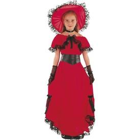Parti Paketi Amerikan Vahşi Batı Scarlet Kostümü, 7-9 Kız Çocuk Kostümleri