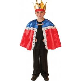 Parti Paketi Kral Kostümü, Pelerin / Taç 3-7 Yaş Erkek Çocuk Kostümleri