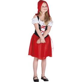 Parti Paketi Kırmızı Başlıklı Kız Kostüm, 4-6 Yaş Kız Çocuk Kostümleri
