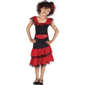 Parti Paketi Ispanyol Kız Kostümü, 4-6 Yaş Kız Çocuk Kostümleri
