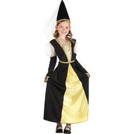 Parti Paketi Ortaçağ Prensesi, 4-6 Yaş Kız Çocuk Kostümleri