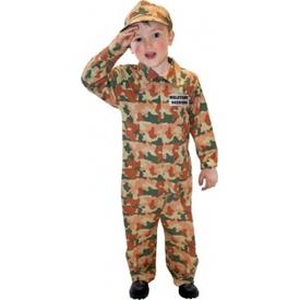 Parti Paketi Kamuflaj Asker Kostümü, 3-5 Yaş Erkek Çocuk Kostümleri